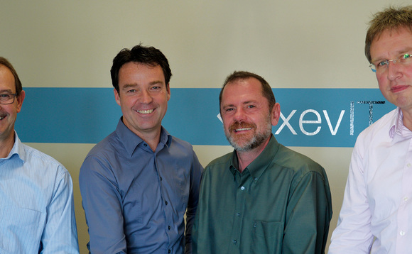 From left to right: xevIT founders Klaus Lorenz, Jochen Faas, Frank Nagel, Stephan Kirchmann
